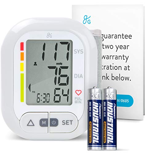 """Wrist Blood Pressure Cuff Monitor by Balance,""""2019 Update"""" Travel Bag, Two User Support, 2-Year Warranty"""