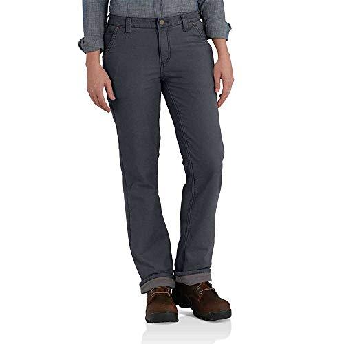 Carhartt Women's Original Fit Fleece Lined Crawford Pant, Coal, 4 Short - Carhartt Womens Work Jeans