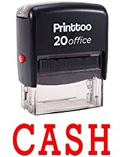 Printtoo Custom Stamp CASH Self Inking Rubber Stamp Office Stationary-Red