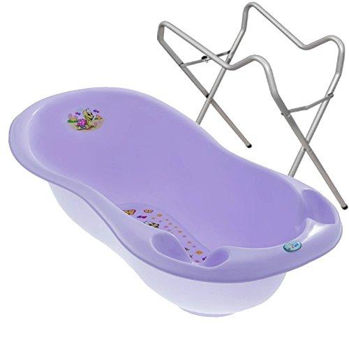 BABY BADESET Babybadewanne + Ständer (Violet)