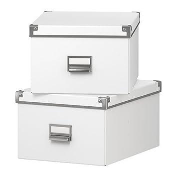 Amazon.com: IKEA kasset Caja de almacenaje con tapa (10 3/4 ...