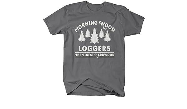 a4bf714079 Amazon.com: Shirts By Sarah Men's Funny Lumberjack T-Shirt Morning Wood  Loggers Ring Spun Cotton: Clothing