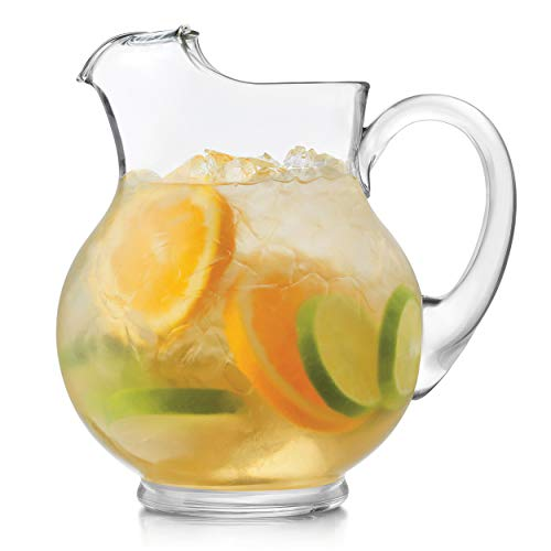 Glass Lemonade - Libbey Acapulco 2-Piece Glass Pitcher Set, 89.5-ounce
