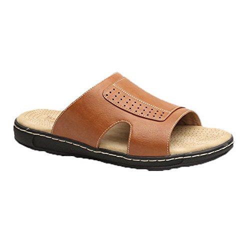 durable modeling Mens Casual Slip On Sandal TAN