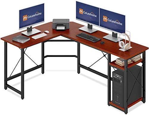 Coleshome L Shaped Computer Desk