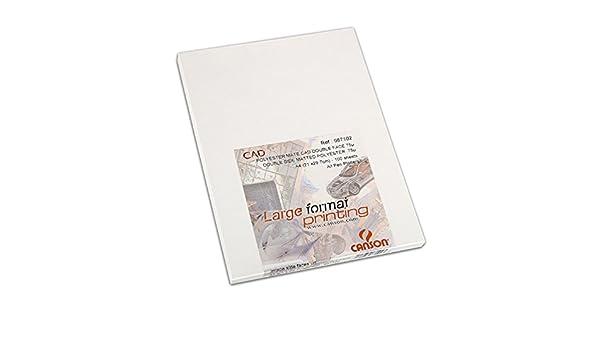 Caja A4, 100 Hojas, Canson Polyester CAD Mate 75µ Translúcido: Amazon.es: Oficina y papelería