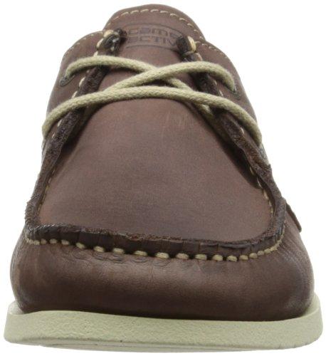 camel active Nassau 11 378.11.01 - Zapatos de cuero para hombre Marrón Oscuro