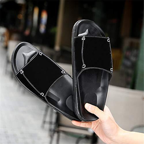 Casual Colore spiaggia Nero Da 40 Shoes Leather Nero Dimensione Uomo Wagsiyi Comode Pantofole EU Scarpe Scarpe pantofole Outdoor 2 da 3 Da Spiaggia ZqnXaS