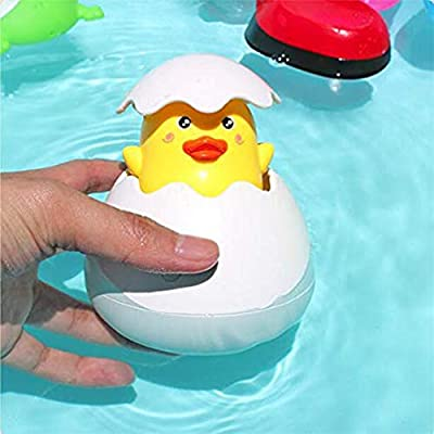 Toporchid Baby Bathing Toy Duck Penguin Egg Water Spray Sprinkler Bathroom Shower Swimming Water Toys(Style 1): Home & Kitchen