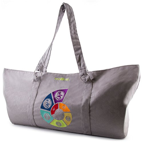 Peace Yoga Yoga Mat Tote Bag - Spiral - Fully Lined Embroidered Tote