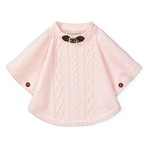 Hope & Henry Girls' Sweater Cape Heather Pink from Hope & Henry