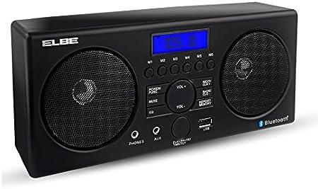 Elbe Radio Despertador con Bluetooth, color negro: Amazon.es: Hogar