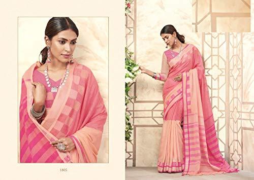 Ultime Seta Casual Pakistane Lino Sari Donne Indiane Vestono Di Ethnic Le Designer 7330 Abbigliamento 29HEIWD