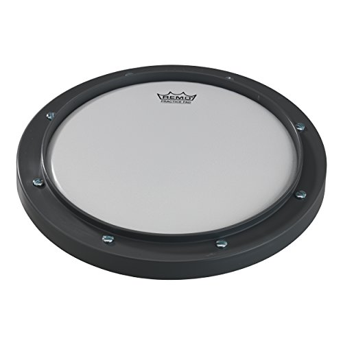 "Remo RT-0008-00 8"" Gray Tunable Practice Pad with Ambassador Coated Drumhead from Remo"