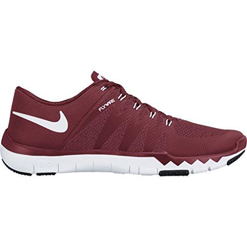 Nike Mens Free Trainer 5.0 V6 Mesh Cross-trainer Scarpe Da Ginnastica Rosso / Bianco / Nero
