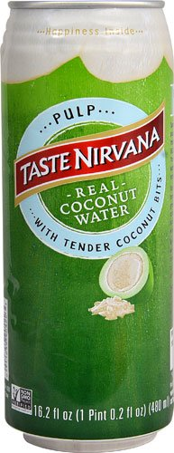 Taste Nirvana Real Coconut Water With Pulp - 16.2 oz - 12 ct