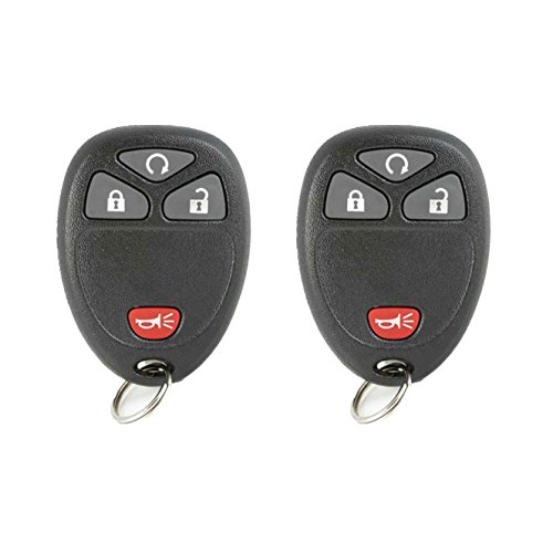 Keyless2Go New Keyless Entry with Remote Start Car Key Fob for Select Vehicles with 15114374 KOBGT04A (2 Pack) ()