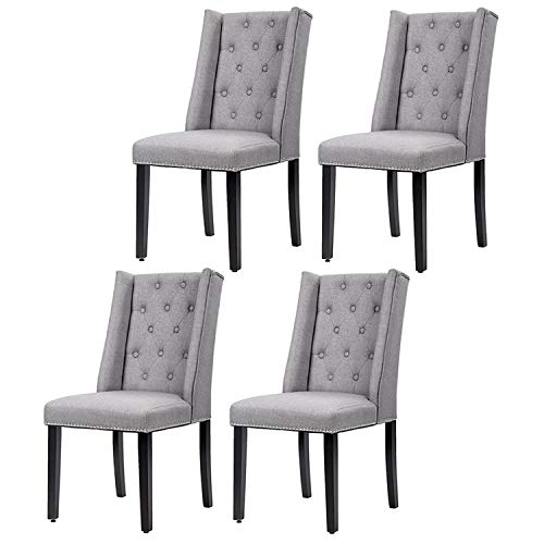 Dining Room Chairs Kitchen Chairs Parsons Dining Chairs (Set of 4) Side Chair for Restaurant Home Kitchen Living Room (Chair Cheap Dining)