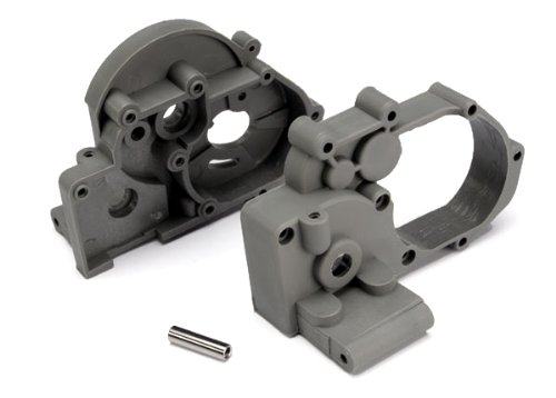 Traxxas 3691A Left and Right Gearbox halves (grey) with Idler ()