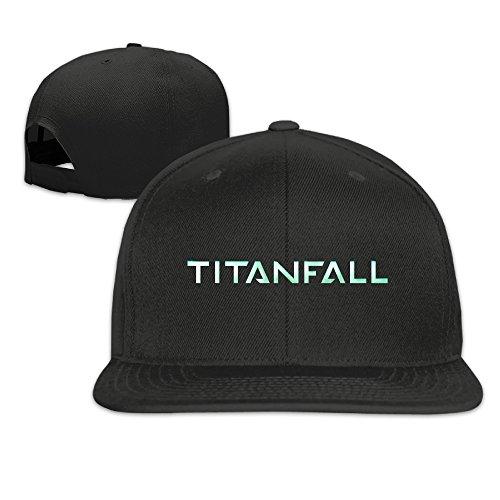 - Titanfall Logo Adjustable Hat Flat Along Baseball Flat Cap Black for Unisex
