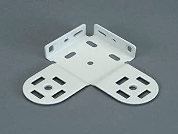1 PAIR: Rollease Universal Double Skyline Bracket 38mm, White (MPN#SLDB38W)