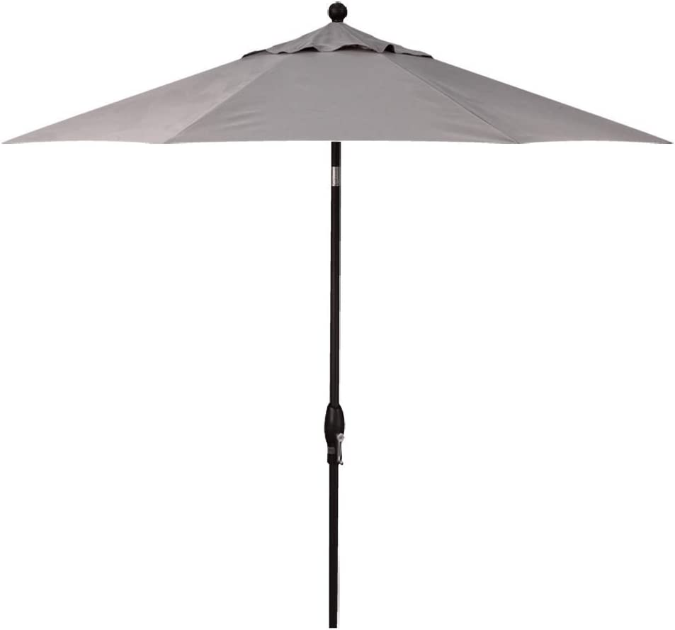 Treasure Garden 9-Foot Push-Button Tilt Market Umbrella with Black Frame and Obravia (4 YR Warranty) Fabric: Boulder