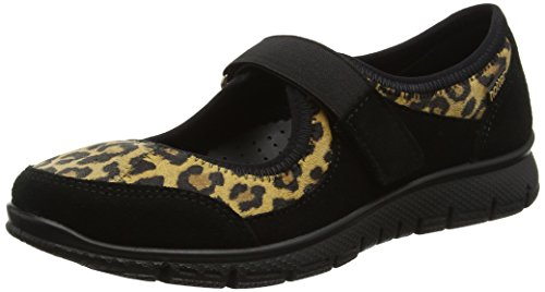 Hotter Women's Aura Mary Janes Multicolour (Black Leopard) abw7QHf0Ak