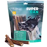 6-inch Standard Odor Free Bully Sticks [ 10 Pack ] by Super CAN Bully Sticks, 100% Natural Premium Dog Treats and Chews Made only from Free Range Grass fed Beef. Dogs Favorite Bully Sticks.