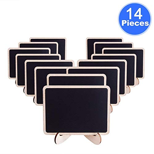 AUSTOR 14 PCS Mini Chalkboard Place Cards with