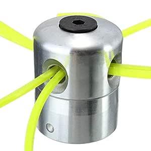 Haloku Aleación Aluminio Desbrozadora Cesped, Cabeza con 4 Lineas ...