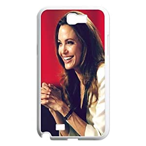 Samsung Galaxy N2 7100 Cell Phone Case White_Angelina Jolie Vdzco