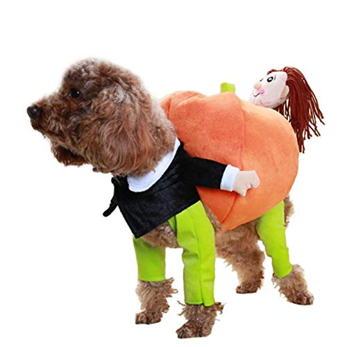 iBaste Pet Dog Halloween Costume Christmas Costume Soft Cotton Pumpkin Fancy Strange Creative -