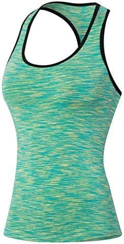 女性のスポーツタイツ夏速乾性発汗トレーニング服迷彩フィットネスTシャツ