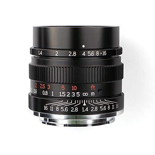 7artisans 35mm F1.4 Full Fame Lens for Sony Emount Cameras Like A7 A7II A7R A7RII A7S A7SII A6500 A6300 A6000 A5100 A5000 EX-3 NEX-3N NEX-3R NEX-C3 NEX-F3K NEX-5 NEX-5N -Black