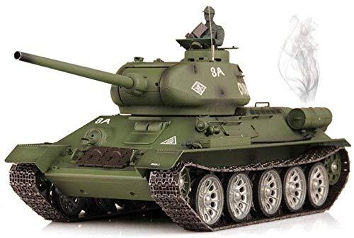 TIEHUE Tank Toys RC Remote Control Tank, Soviet T-34 Metal Tank 2.4Ghz Remote Control 1/16 Scale Model, Metal Track…