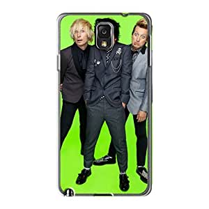 Shockproof Hard Cell-phone Case For Samsung Galaxy Note3 (mFq76qROP) Unique Design Lifelike Green Day Band Series