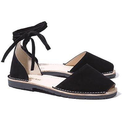 Solillas Suede Ankle Tie Menorcan Sandals eQNyO