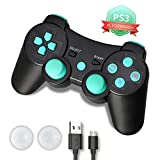 PS3 Controller, PS3 Controller Wireless, PS3 Remote, CFORWARD 1Pack Wireless Rechargeable Gamepad Dual Vibration Remote Joystick Compatible for Playstation 3