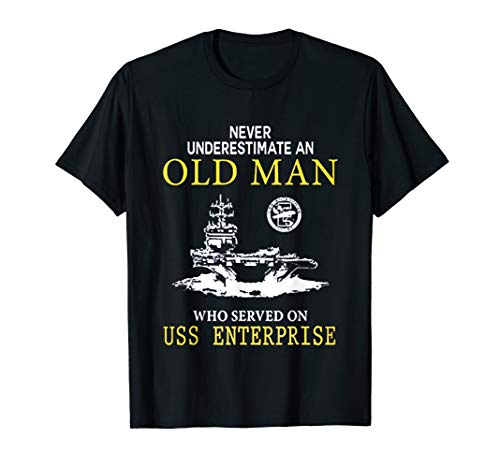 USS ENTERPRISE CVN-65 TSHIRT (Largest Plane To Land On Aircraft Carrier)