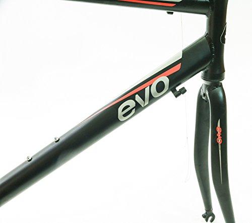 EVO Vantage 7.0 58cm X Large Aluminum Road Bike Frameset Fork + Extras Black NEW