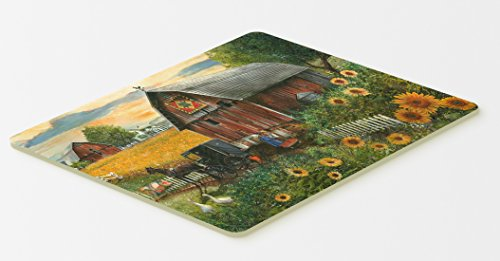 """Caroline's Treasures PTW2003CMT Sunflower Country Paradise Barn Kitchen or Bath Mat, 20 by 30"""", Multicolor from Caroline's Treasures"""