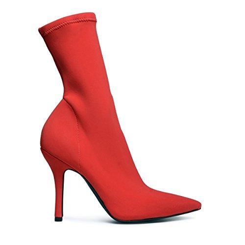 Sacha Damen Stiefeletten Rot