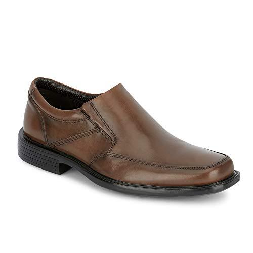 (Dockers Mens Park Leather Dress Loafer Shoe Dark Tan)