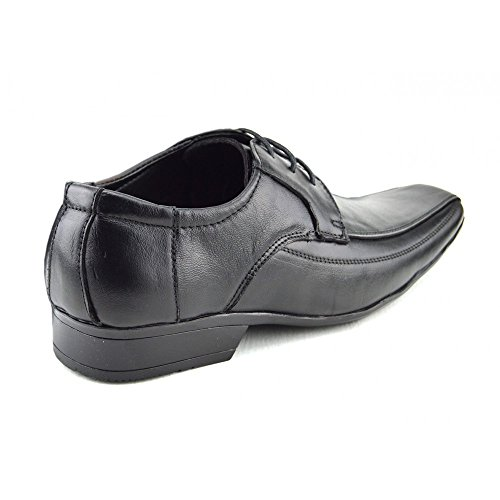 Kick Footwear Mens Lace Up Black Leather Smart Shoes Black