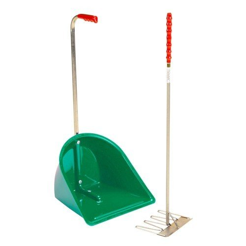 Stubbs Stable Mate Manure Collector High With Rake S4585 (One Size) (Green)