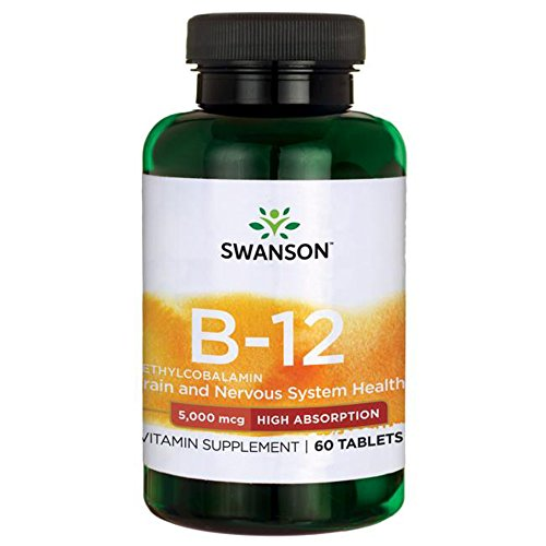 (Swanson Vitamin B-12 Methylcobalamin High Absorption 5000 mcg 60 Tabs)