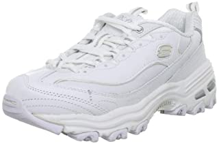 Skechers Sport Women's D'Lites Lace-Up Sneaker, White/Silver, 9 M US (B0012G2HAC) | Amazon price tracker / tracking, Amazon price history charts, Amazon price watches, Amazon price drop alerts