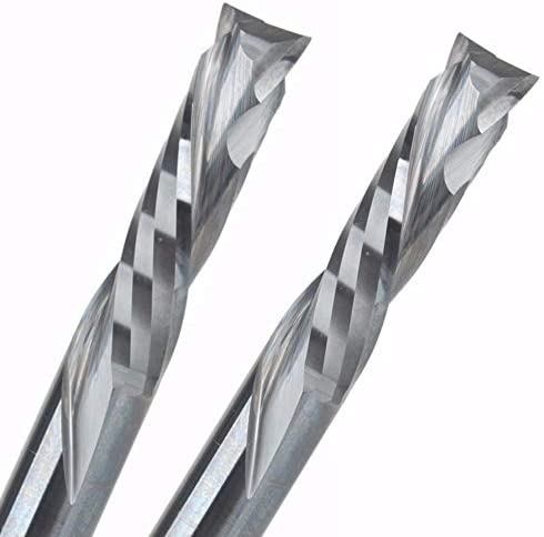 FLY MEN 1PC 10x42mm up Down Cut 2 Spiral Flute Carbide Mill,CNC Milling Cutter,Woodworking Cutting Tools Router Bit