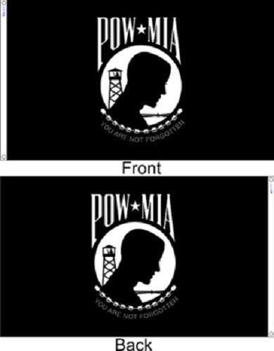 """3' x 5' 3x5 FT POW-MIA Flag SolarMax Nylon US Made """"Double S"""