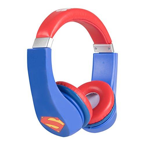 Superman 30390 Kid Safe Over the Ear Headphone with Volume Limiter by Sakar